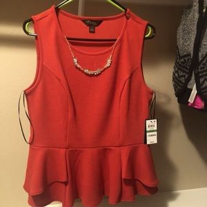 Peplum blouse new with tags